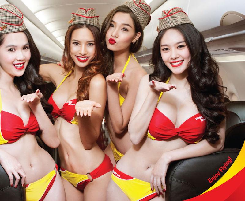 Bikini Girl Stewardesses of VietJet - GeekZoid.net